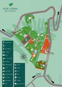 Karte Hotel Cernia